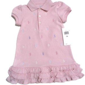 Ralph Lauren Pink Polo Pony Dress NWT 12 M